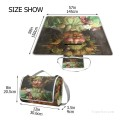 Personalized Portable Picnic Mat with Strap Handle Outdoor Picnic Cloth Rug Yoga Mat Italian humor art USD27 2