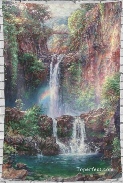 Frame Painting - Personalized Tapestry for Bedroom Living Dining Room Dorm Wall Art Hanging Landscape Waterfall USD14 18 13 1