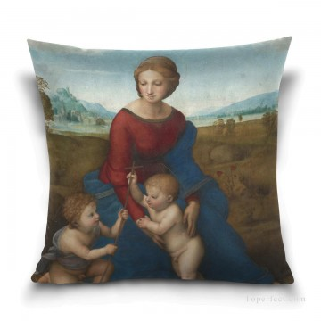 madonna Painting - Personalized Throw Pillow Covers Cotton Velvet Super Soft Madonna by Italian Raphael USD9 1