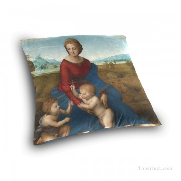 madonna Painting - Personalized Throw Pillow Covers Cotton Velvet Super Soft Madonna by Italian Raphael USD9 3