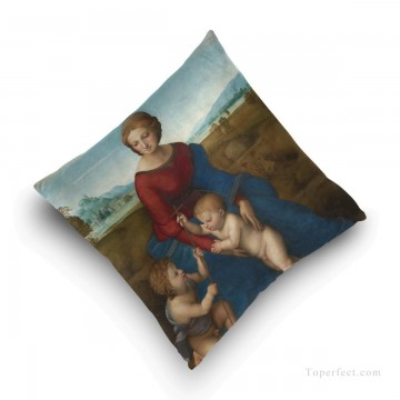 madonna Painting - Personalized Throw Pillow Covers Cotton Velvet Super Soft Madonna by Italian Raphael USD9 5