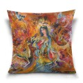 Personalized Throw Pillow Covers Cotton Velvet Super Soft Persian Miniatures Fairyland USD9 1