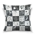 Personalized Throw Pillow Covers Cotton Velvet Super Soft abstract painting Thirty Trente USD9 1