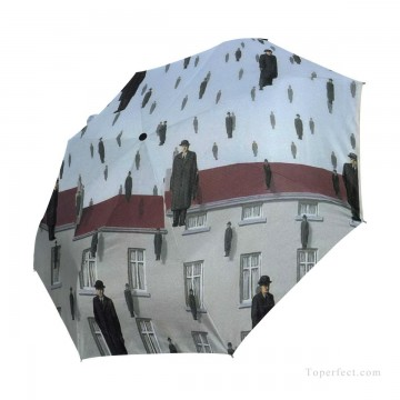 Personalized Automatic Umbrella Windproof Travel Belgian Surrealism painting Gonconda USD19 3 Oil Paintings