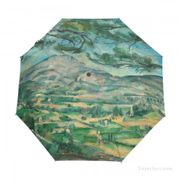 Personalized Automatic Umbrella Windproof Travel Post Impressionism landscape by Paul Cezanne USD19 1 Oil Paintings