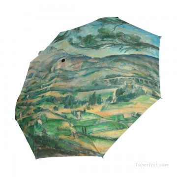 impressionism landscape Painting - Personalized Automatic Umbrella Windproof Travel Post Impressionism landscape by Paul Cezanne USD19 3