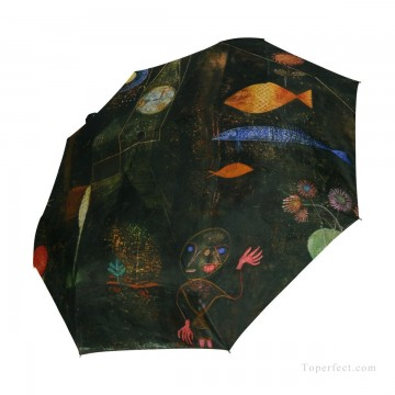 bath girl oil painting Painting - Personalized Automatic Umbrella Windproof Travel oil painting Fish Magic by Paul Klee USD19 1