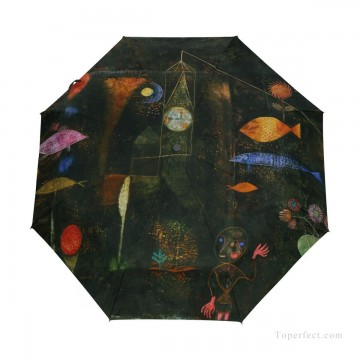 Personalized Automatic Umbrella Windproof Travel oil painting Fish Magic by Paul Klee USD19 3 Oil Paintings