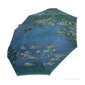 lake pond Painting - Personalized Automatic Umbrella Windproof Travel oil painting Water Lilies Pond by Monet USD19 1