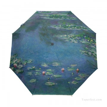lake pond Painting - Personalized Automatic Umbrella Windproof Travel oil painting Water Lilies Pond by Monet USD19 3