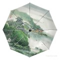 Personalized Automatic Umbrella Windproof Travel traditional Chinese ink painting Suzhou Park USD19 3