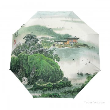 traditional Painting - Personalized Automatic Umbrella Windproof Travel traditional Chinese ink painting Suzhou Park USD19 A1