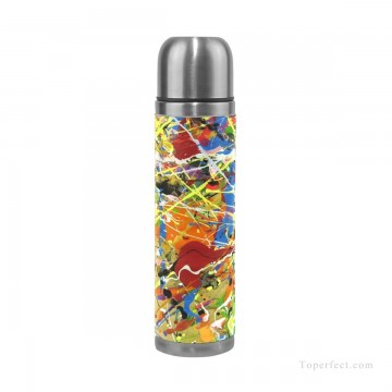 Personalized Stainless Steel Vacuum Insulated Mug Water Bottle Print on Split Leather American Abstract Expressionism USD15 10 1 Oil Paintings