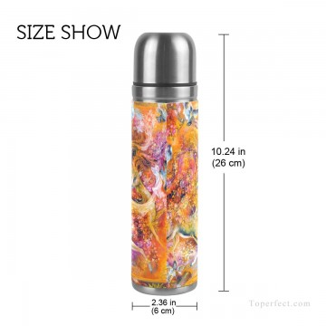 Frame Painting - Personalized Stainless Steel Vacuum Insulated Mug Water Bottle Print on Split Leather Persian Miniatures Fairyland Islamic A USD15 3 2