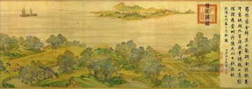 Zhang zeduan Qingming Riverside Seene part 7 traditional Chinese Oil Paintings