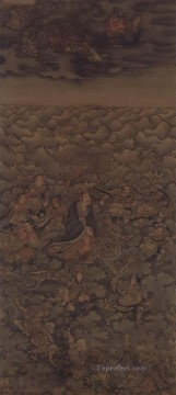 daoist deity of water Wu Daozi traditional Chinese Oil Paintings