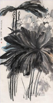 Chinese Painting - Chang dai chien lotus 3 traditional Chinese