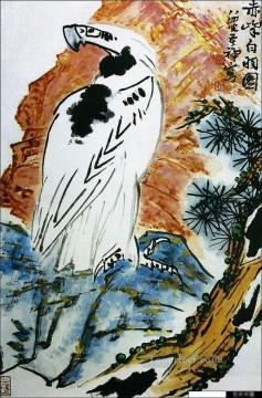 Chinese Painting - Li kuchan eagle on tree traditional Chinese