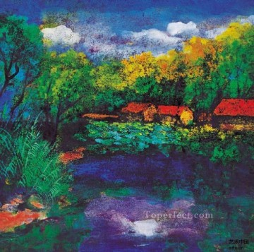 Chinese Painting - Ma Jun colorful ink landscape traditional Chinese