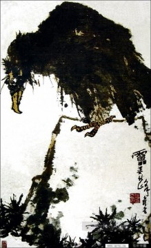 Chinese Painting - Pan tianshou eagle traditional Chinese