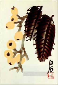 Chinese Painting - Qi Baishi loquat traditional Chinese