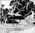 Qi Baishi trees in the studio traditional Chinese