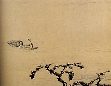 Chinese Painting - Shitao at the discretion of river 1707 traditional Chinese
