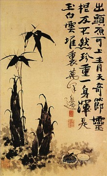 Chinese Painting - Shitao bamboo shoots 1707 traditional Chinese