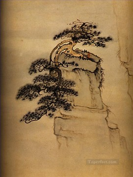 Shitao view of mount huang 1707 traditional Chinese Oil Paintings