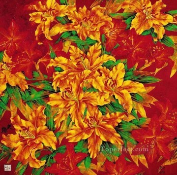 Traditional Chinese Art Painting - red flowers traditional Chinese