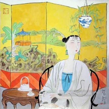 Chinese Art - Hu yongkai Chinese lady 8