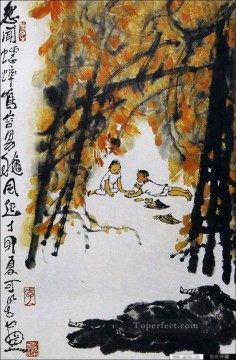 Li keran 3 traditional Chinese Oil Paintings