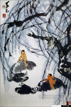 Li keran 6 traditional Chinese Oil Paintings