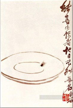Traditional Chinese Art Painting - Qi Baishi fly on a platter traditional Chinese