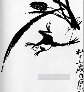 Chinese Painting - Qi Baishi frog traditional Chinese