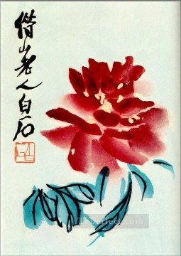 Chinese Painting - Qi Baishi peony 1956 traditional Chinese