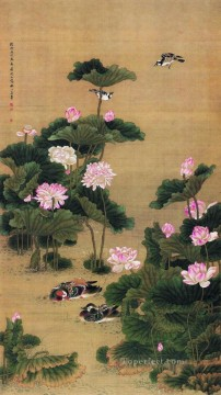 Chinese Painting - Shenquan birds and flowers traditional Chinese