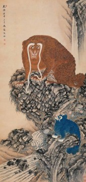 Traditional Chinese Art Painting - Shenquan monkey traditional Chinese