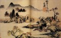 Shitao bath horses 1699 traditional Chinese