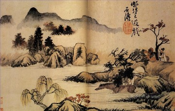 Shitao bath horses 1699 traditional Chinese Oil Paintings