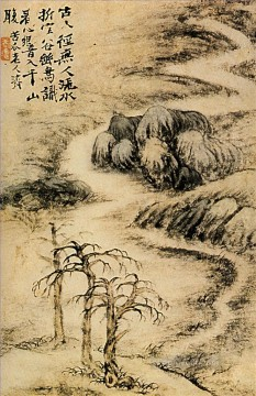 Shitao creek in winter 1693 traditional Chinese Oil Paintings