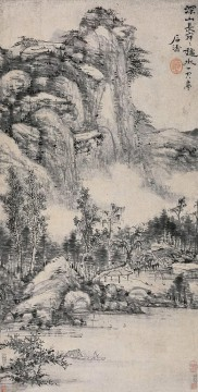 Shitao deep mountain traditional Chinese Oil Paintings