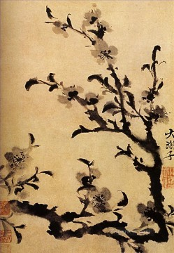 Traditional Chinese Art Painting - Shitao flowery branch 1707 traditional Chinese