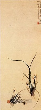 Chinese Painting - Shitao shoots of orchids 1707 traditional China