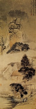 China Oil Painting - Shitao the drunk poet 1690 traditional China
