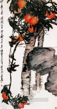 Chinese Painting - Wu cangshuo peach traditional China