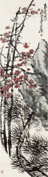 Wu cangshuo plum in winter traditional China Oil Paintings