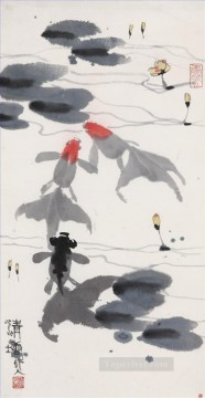 Traditional Chinese Art Painting - Wu zuoren pond traditional China