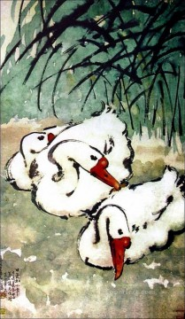 Xu Beihong goose 3 traditional China Oil Paintings