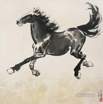 China Art Painting - Xu Beihong running horse traditional China